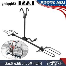 80lb Bike Carrier Auto Rear Trailer Tow Hitch Mounted Bicycl